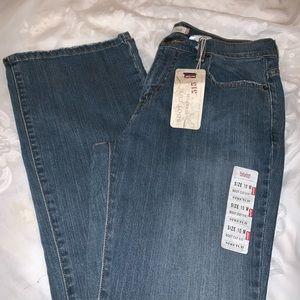 New Womens Levi Strauss 515 Bootcut Blue Jeans